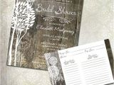 Rustic Bridal Shower Invitations with Recipe Cards Rustic Wood Bridal Shower Invitations & Recipe Cards
