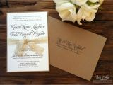 Rustic Wedding Invitations Etsy Rustic Wedding Invitation Kraft Lace