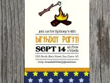 S More Party Invitation Diy Printable Campfire S Mores Birthday Invitation by themunch