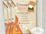 S More Party Invitation S Mores Invitation Smores Camping Invitation Campfire