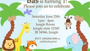 Safari Birthday Invitation Template Free 40th Birthday Ideas Jungle Birthday Invitation Template Free