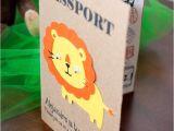Safari Passport Baby Shower Invitations 17 Best Images About Niver Lorenzo On Pinterest