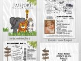 Safari Passport Baby Shower Invitations Jungle Safari Passport Boarding Pass Invitation Set
