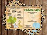 Safari Passport Baby Shower Invitations Novel Concept Designs Safari Passport Baby Animals