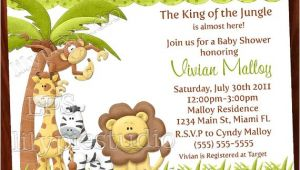 Safari themed Baby Shower Invitation Templates 8 Best Of Jungle theme Invitations Free Printable