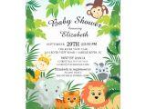 Safari themed Baby Shower Invitation Templates Cute Jungle Safari Baby Shower Invitations