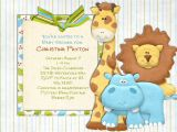 Safari themed Baby Shower Invitation Templates Jungle Baby Shower Invitations Template