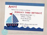 Sailboat Invitations Birthday Party Invite Me to Party Sailboat Birthday Party Nautical