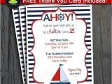 Sailboat Invitations Birthday Party Nautical Birthday Invitation Sailboat Party Invitation