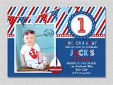 Sailboat Invitations Birthday Party Nautical Sailboat Birthday Invitation Sailboat Birthday