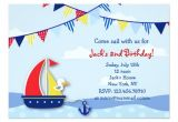 Sailboat Invitations Birthday Party Nautical Sailboat Birthday Party Invitations Zazzle