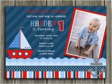 Sailboat Invitations Birthday Party Printable Sailboat Birthday Invitation Boys 1st Birthday