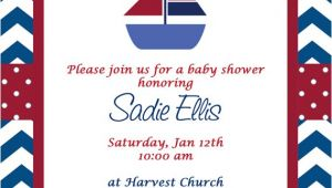 Sailor Baby Shower Invitations Template Free Nautical Baby Shower Invitation Templates
