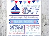 Sailor themed Baby Shower Invitations Nautical theme Baby Shower Invitations