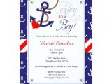 Sailor themed Baby Shower Invitations Nautical themed Baby Shower Invitation