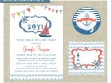 Sailor themed Baby Shower Invitations Nautical themed Baby Shower Invitation Set by