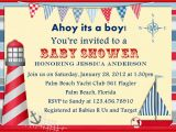 Sailor themed Baby Shower Invitations Template Nautical themed Baby Shower Invitations