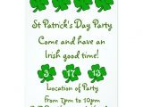 Saint Patrick S Day Party Invitations St Patrick 39 S Day Party Invitation Customizable Zazzle