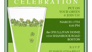 Saint Patrick S Day Party Invitations St Patricks Day Celebration Party Pint Invitation 5 25