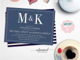 "Same Sex Bridal Shower Invitations Gentleman S Shower Invitation ""navy and White"" Printable"