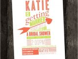 Same Sex Bridal Shower Invitations Shabby Chic Poster Style Bridal Shower by Perfectpeardesigns