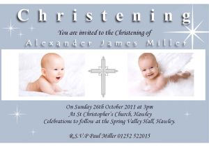 Sample Baptism Invite Christening Invitation Sample