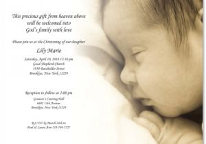 Sample Baptism Invite Pretty Christening Baptism Invitation Template Sample with