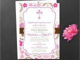 Sample Baptismal Invitation Card Designs Baby Shower Christening Invitation Card Sample Card