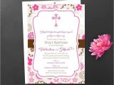 Sample Baptismal Invitation Cards Baby Shower Christening Invitation Card Sample Card