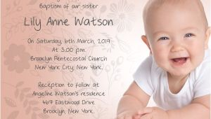 Sample Baptismal Invitation Cards Baptism Invitation Wording Samples Wordings and Messages