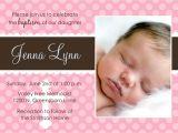 Sample Baptismal Invitation for Baby Girl Baby Baptism Invitations Baby Christening Invitations