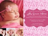 Sample Baptismal Invitation for Baby Girl Baby Girl Dedication Invitations Yourweek Ac9c2feca25e