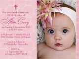 Sample Baptismal Invitation for Baby Girl Baptism Invitation Wording Baptism Invitation Wording