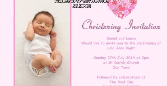 Sample Baptismal Invitation Layout Sample Invitation for Christening Cards