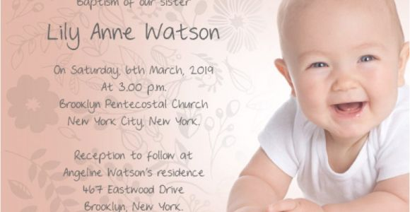 Sample Baptismal Invitation Wording Baptism Invitation Wording – Gangcraft
