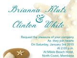 Sample Beach Wedding Invitation Wording Beach Wedding Invitation Wording Samples Wordings and