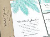 Sample Destination Wedding Invitations New Charlotte Teal Palm Tree Wedding Invitation Sample