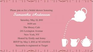 Sample Email Bridal Shower Invitations Cheap Print Pink Bridal Shower Tea Party Invitations
