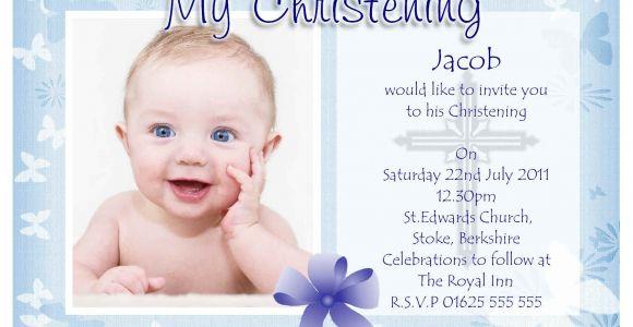 Sample Invitation Card for Baptism Baptism Invitation Baptism Invitations for Boys New