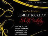 Sample Invitation for 50th Birthday Party 50th Birthday Invitations and 50th Birthday Invitation