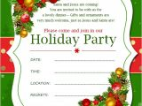 Sample Invitation for A Christmas Party Christmas Invitation Template and Wording Ideas