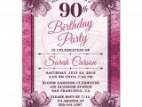 Sample Invitations for 90th Birthday Party 90th Birthday Party Invitations Party Invitations Templates