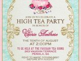 Sample Invitations to A Tea Party High Tea Invitation Template Invitation Templates J9tztmxz
