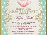Sample Invitations to A Tea Party Tea Party Invitation High Tea Bridal Shower by