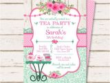 Sample Invitations to A Tea Party Tea Party Invitation Tea Party Birthday Invitation Tea