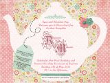 Sample Invitations to A Tea Party Tea Party Invitation Template Invitation Templates