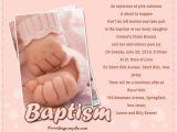 Sample Message for Baptism Invitation Baptism Invitations Wording – Gangcraft