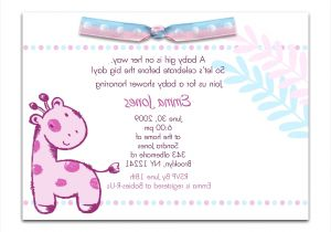 Sample Of Baby Shower Invitation Wording Baby Shower Invitation Wording Examples Sample Baby Shower