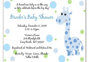 Sample Of Baby Shower Invitation Wording Invitation Baby Boy Quotes Quotesgram