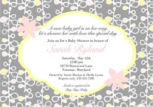 Sample Of Baby Shower Invitation Wording Wording for Baby Shower Invitations asking for Gift Cards